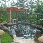 One of the small hot springs