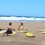 surf lesson with Paolo