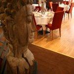 Drift wood carved Budda head