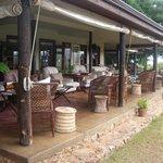 Shared verandah area for tea and pre dinner drinks