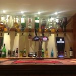 Well stocked bar with draught Carling lager,Worthington creamflow and a wide range of spirits an