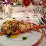 Lobster at new years gala dinner.. Superb 7 course meal
