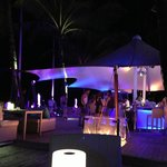Night time at the beach club