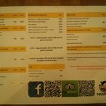 Menu (One side of it)