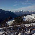 Vista sud dall'Hotel Victoria (verso Bolzano)