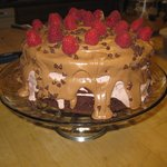 Chocolate Raspberry Mudslide Cake for dessert