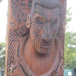 One of the carvings