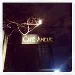 The Cafe Amelie sign