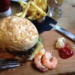 Gorgeous Surf and Turf burger