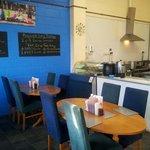 Inside the cafe on clayflatts