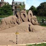 100 year sand sculpture