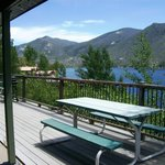 View from upper large lakeside cabins