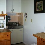 Kitchenette in large lakeside cabins