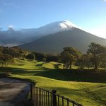 View of Agua volcano from the golf course