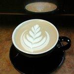 Reflection latte art