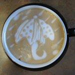Umbrella latte art