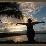 Pôr do sol na praia da concha....Lindo demais!!!