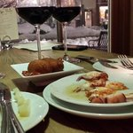 Great food and wine to accompany a beautiful snowy evening!