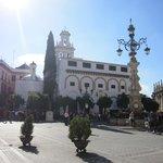 Vista de la plaza.