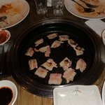 almost empty plate!...u can enjoy unlimited samgyeopsal (grilled pork) at 299 along with other f