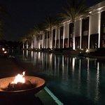 Lounge pool at night