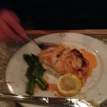 Grouper with Mashed Potatoes and Asparagus