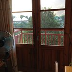 Looking out the balcony doors