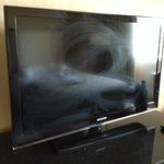 my poorly cleaned tv. which didn't matter because it didnt work anyway.