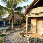 Rustic cabanas