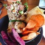 Tempe & Avocado wrap - delish!