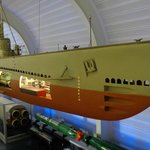 submarine model in the mseum