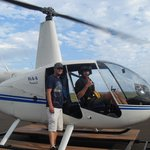 Pilot Spencer with Staff member- Mike