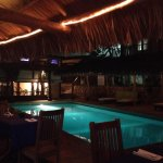 A view of the pool from our dinner table