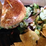 The Waldof Chicken Sandwich and Goat Cheese Cranberry Salad