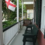 A sweet front porch and a swing with a special history (ask Kevin about it)