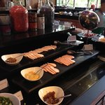 Breakfast spread - cold cut section