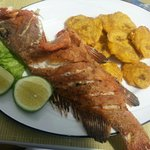 Fried Grouper with Plantain. Best meal in PC.