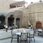Outside area for chatting, drinks, food, shisha, chillaxin