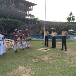 Raising the flag on Sri Lankan Independence Day