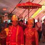 une cérémonie villageoise, le 31 janvier