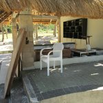 """abandoned pool bar next to the """"paradise cove"""" pool"""