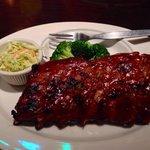 Half rack baby ribs with original BBQ sauce