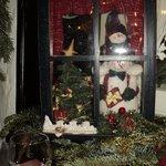 рождественское украшение в кафе