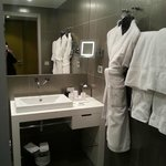 The bathroom in room 105