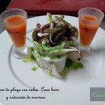 Calamar de playa con salsa verde