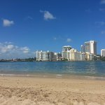 Nice sized beach, pretty calm waters