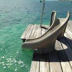 Slide into the ocean!