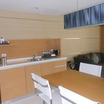 Kitchenette, with free tea and coffee