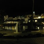 Hotel grounds at night