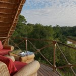 Sit back, relax and enjoy the views from our top deck at the main Lodge